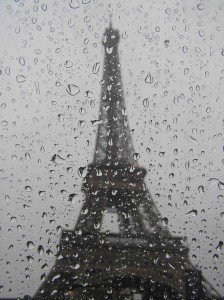 Tower in the rain